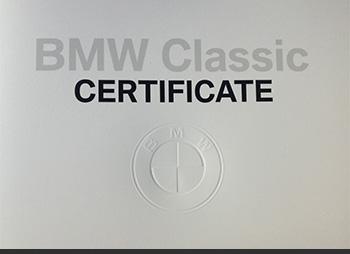 bmw certificate classic garage